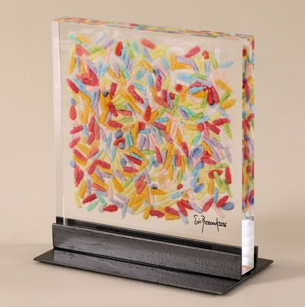 sculpture, inclusion, acrylique, embedment, acrylic